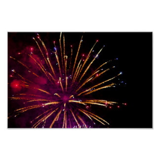 Colorful Fireworks Poster