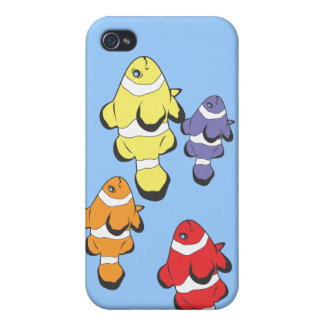Colorful Fish Cover For iPhone 4