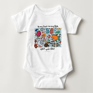 Colorful Fish Friends Baby Bodysuit