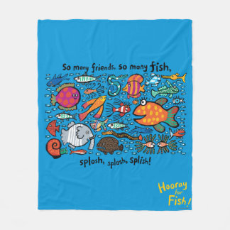 Colorful Fish Friends Fleece Blanket