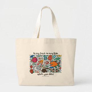 Colorful Fish Friends Large Tote Bag