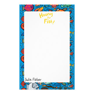 Colorful Fish Friends Stationery