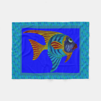 Colorful Fish In Water Photography Print Fleece Blanket