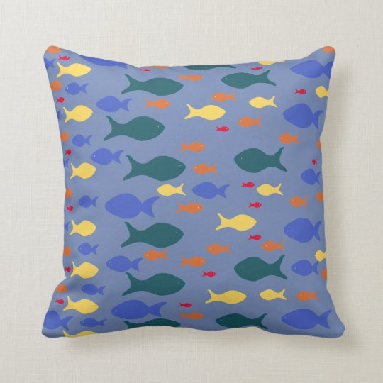 Colorful Fish Pillow Throw Cushion
