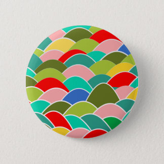 Colorful Fish Scale Pattern 6 Cm Round Badge