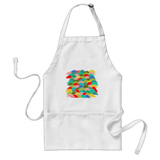 Colorful Fish Scale Pattern Standard Apron