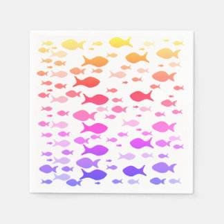 Colorful Fishes Sea Summer Mood  Napkins Paper Napkins