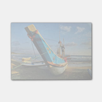 Colorful Fishing Boat By The Ocean Post-it Notes