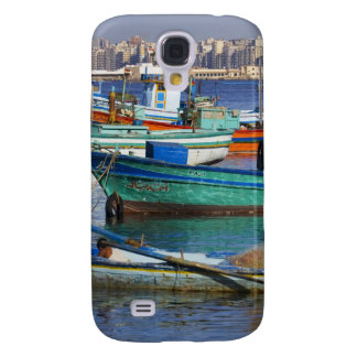 Colorful fishing boats in the Harbor of Galaxy S4 Case