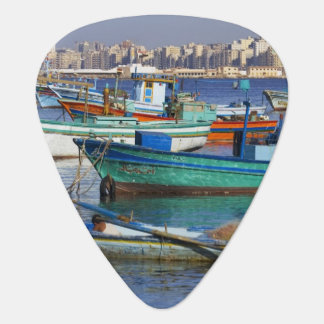 Colorful fishing boats in the Harbor of Guitar Pick