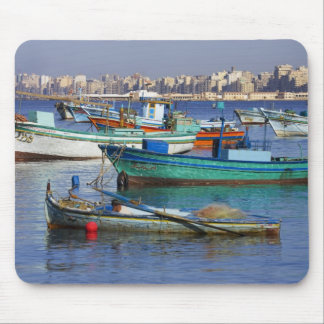 Colorful fishing boats in the Harbor of Mouse Mat