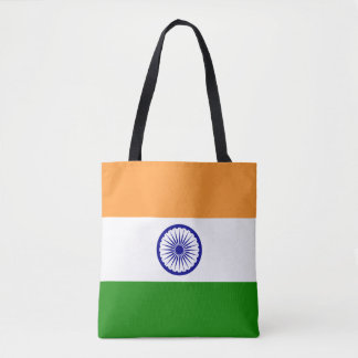 Colorful Flag of India Tote Bag