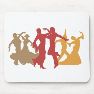 Colorful Flamenco Dancers Mouse Pad