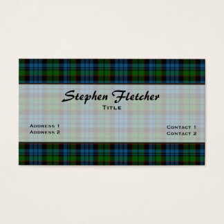 Colorful Fletcher Plaid Custom Business Card