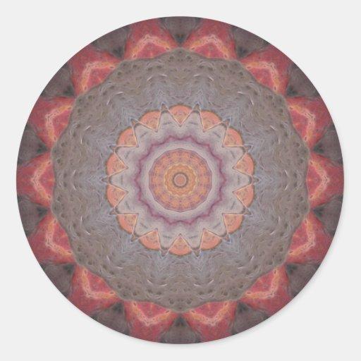 Colorful Floor Tiles Kaleidoscope 12 Stickers
