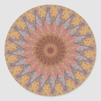Colorful Floor Tiles Kaleidoscope 13 Classic Round Sticker