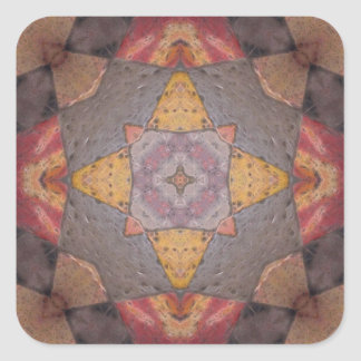 Colorful Floor Tiles Kaleidoscope 9 Square Sticker