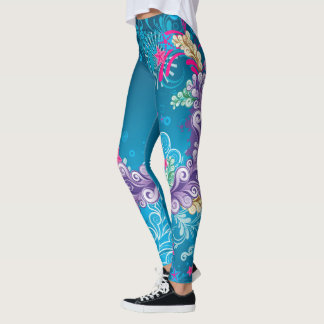Colorful Floral Abstract Leggings