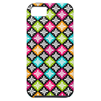 Colorful Floral Argyle Pattern Tough iPhone 5 Case
