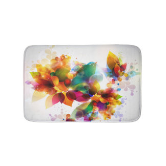 Colorful Floral Bath Mats