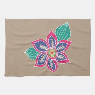 Colorful Floral Bohemian Boho Flowers Customized Tea Towels