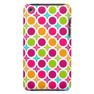 Colorful Floral Circle Pattern Design Barely There iPod Covers