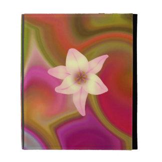 Colorful Floral Design iPad Folio Cases