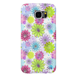 Colorful Floral Design Galaxy S6 Case