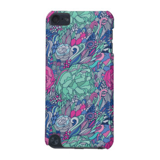 Colorful Floral Doodle Pattern iPod Touch 5G Cases