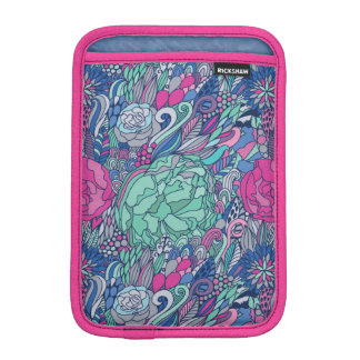 Colorful Floral Doodle Pattern iPad Mini Sleeve