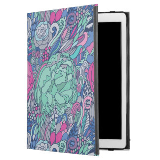 "Colorful Floral Doodle Pattern iPad Pro 12.9"" Case"