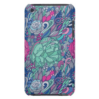 Colorful Floral Doodle Pattern iPod Case-Mate Cases