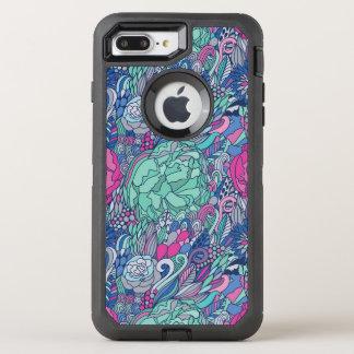 Colorful Floral Doodle Pattern OtterBox Defender iPhone 8 Plus/7 Plus Case
