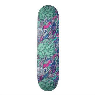 Colorful Floral Doodle Pattern Skateboards