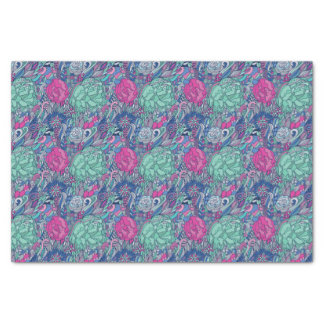 Colorful Floral Doodle Pattern Tissue Paper