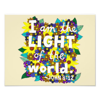 Colorful Floral Doodle Typography Bible Verse Photo Print
