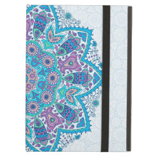 Colorful floral Geometric Mandala Cover For iPad Air