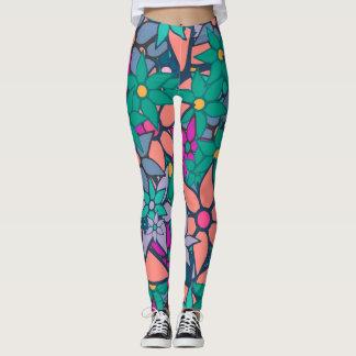 Colorful Floral Leggings