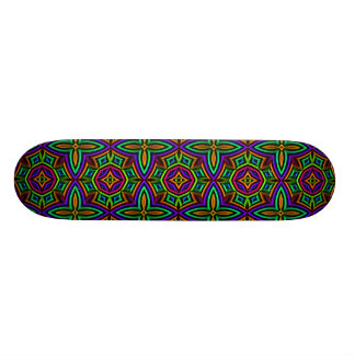 Colorful Floral Pattern Alternate Big Skate Board Deck