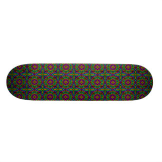 Colorful Floral Pattern Alternate Small Skateboards