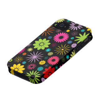 Colorful Floral Pattern Design Case Mate iPhone 4 iPhone 4/4S Cases