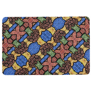 Colorful Floral Pattern Floor Mat