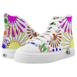 Colorful Floral Pattern High Tops