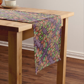 Colorful Floral Pattern Long Table Runner