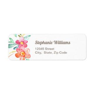 Colorful Floral Return Address Label