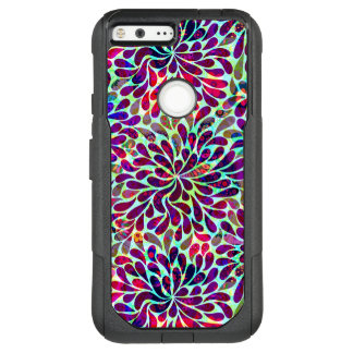 Colorful Floral Seamless Pattern OtterBox Commuter Google Pixel XL Case