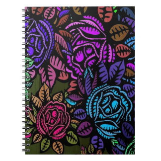 Colorful Floral Spiral Notebook