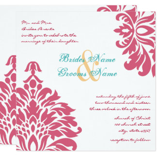 Colorful Floral Spring Wedding Card