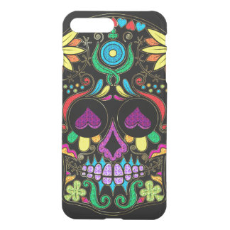 Colorful Floral Sugar Skull Glitter And Gold 3 iPhone 8 Plus/7 Plus Case