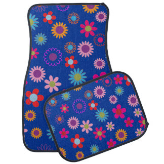 Colorful Floral Surprise Car Mat